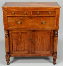 vintage look antique small tiger maple dresser with 3 drawer and