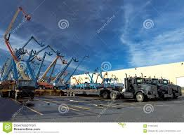 Construction Machinary For Rent Stock Photo - Image Of Machines ...