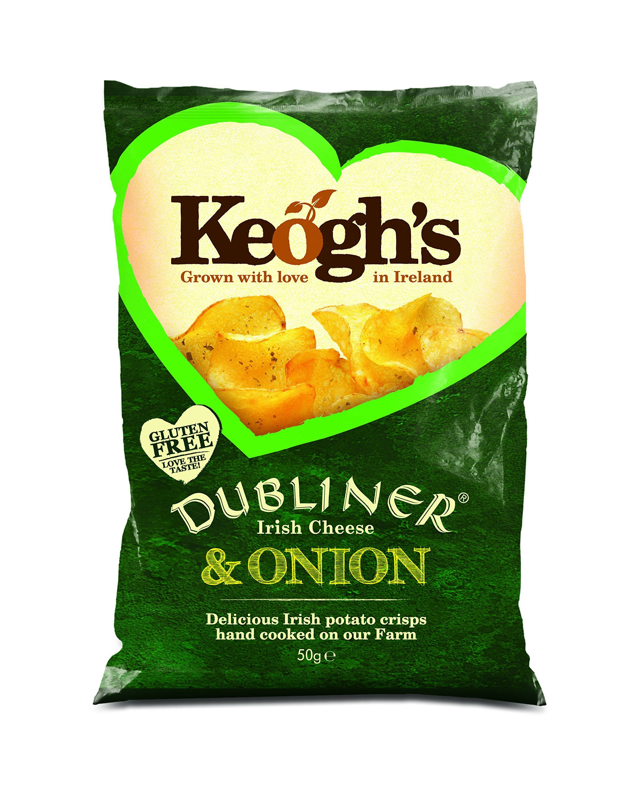 Keogh's Mature Chips - Irish Cheese and Onion, 125g