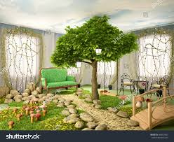100 Eco Home Studio 3 D Illustration Concept Room 409097602