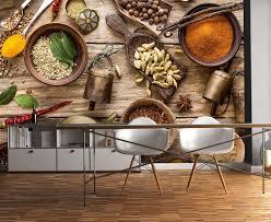 fototapete gewürze küche holz fototapeten tapete wandbild holzoptik zimt nelke m1019
