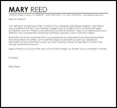 School Acceptance Letter Acceptance Letters