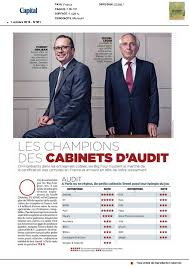 classement des cabinets d audit ranking of audit firms capital october 2016