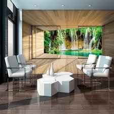 vliestapete wasserfall terrasse verschiedene motivgrößen für das büro oder wohnzimmer