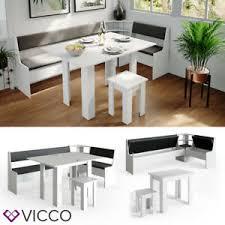 vicco eckbankgruppe weiß 210x120cm esszimmergruppe