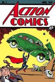 Action Comics 1 June 1938 The Debut Of Superman Cover Art By Joe Shuster