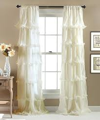 Gray Ruffle Blackout Curtains by Ivory Ruffle Curtains Ivory Ruffle Blackout Curtains U2013 Evideo Me