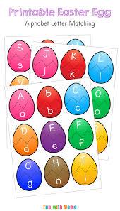 Easter Egg Alphabet Letter Matching