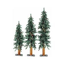 Downswept Slim Christmas Tree by Stylish Set Of 3 Alpine Christmas Trees Agreeable Amazon Com