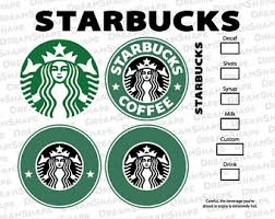 Starbucks Logo SVG Files DXF Cutting Option Coffee Emblem Cut Siren Instant Download
