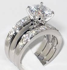 Gold Engagement Ring Set Beautiful White Gold Wedding Ring Sets New