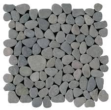 mosaic tile usa bati orient pebble interlocking grey matte