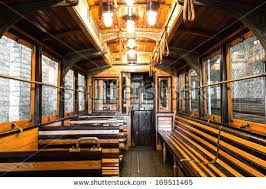 Full Image For An Old Tram Interior Wooden Seats In The Garagevintage Garage Interiors
