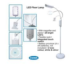 Triumph Desktop Magnifying Lamp by Led Floor Lamp With Magnifier And Clip White U0026 Silver By Triumph