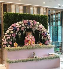 pin by palak shah on ganpati decoration by spree temple