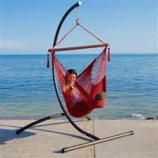 caribbean hammock chair with footrest 40 inch and c stand