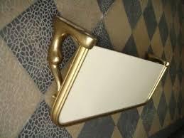 waschbecken konsole badablage konsole bad spiegelablage bauhaus stil 30er weiss ebay