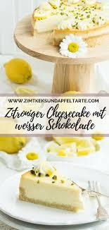 einfaches rezept für zitronen cheesecake mit weißer