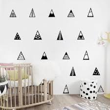 Nordic Style Mountains Wall Sticker Home Decor Kids Bedroom Decals Cute Mountain Art