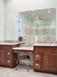 Bathroom Vanities With Matching Makeup Area by Master Bathroom Makeup Vanity Use Idea Only With One Sink And A