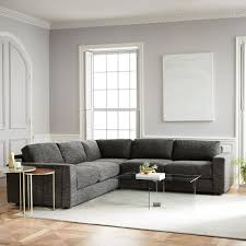 West Elm Crosby Sofa Sectional by Urban 3 Piece Sectional West Elm