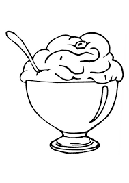 Coloring Pages Of Ice Cream Cup