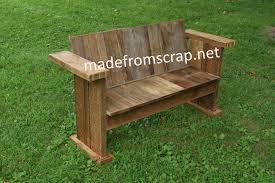Straigh Back 3 Person Barn Wood Bench
