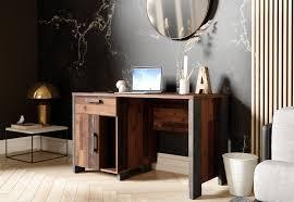 newroom schreibtisch computertisch wood beton optik vintage industrial pc tisch laptoptisch büro wohnzimmer kaufen otto