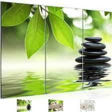 details zu wandbild modern wohnzimmer feng shui steine grün schlafzimmer deko bilder
