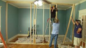 Hanging Drywall On Ceiling Or Walls First by How To Build A Non Load Bearing Interior Wall Today U0027s Homeowner