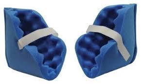 amazon com eggcrate foam heel blue ankle protector deluxe pair