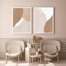 shutiaoqun moderne beige braune abstrakte wandkunst