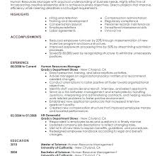 Best Human Resource Manager Resume Sample Hr Examples Management Resources Example Director