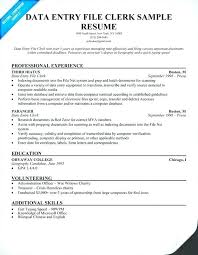 Examples Clerical Resumes Collection Of Solutions Resume Template