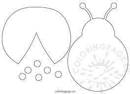 Ladybug Template Cut Outs
