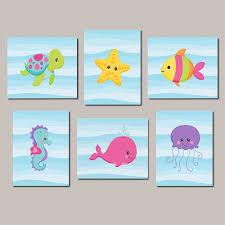 Ocean Themed Bathroom Wall Decor by Best 25 Sea Life Nursery Ideas On Pinterest Ocean Themed