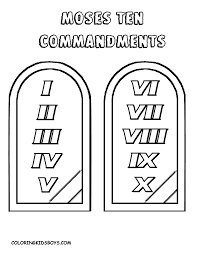 Awesome 10 Commandments Coloring Pages Ideas For Page