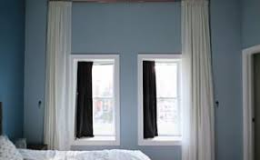 Floor To Ceiling Tension Rod Curtain by How To Replace Vertical Blinds With Curtains In Minutes Hometalk