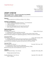 11 New Resume Format For Welder Sample Ideas