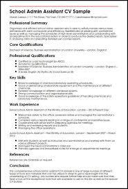 School Admin Assistant Cv Sample Myperfectcv Rh Co Uk Office Manager Resume