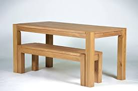 sitzgruppe bonito farbton honig hell mit esstisch 160x80cm 1x sitzbank 140x38cm pinie massivholz geölt und gewachst tisch und bank optional