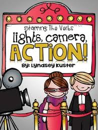 Light Verb by Lights Camera Action Verb Activity Packet Action Verbs