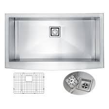 Ferguson Stainless Steel Kitchen Sinks by Kraus Farmhouse Apron Front Stainless Steel 33 In Single Basin