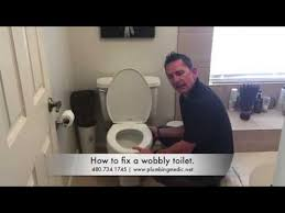 how to fix a wobbly toilet plumbing medic