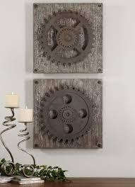 Ebay Wall Decor Quotes by Urban Industrial Loft Steampunk Decor Rusty Gears Cogs 3d Wall Art