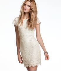 this cream colored lace dress from h is incredibly versatile and