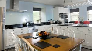 kitchen cabinets with blue walls quicua