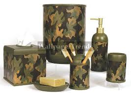 camouflage cabin lodge decor bathroom accessories huge product