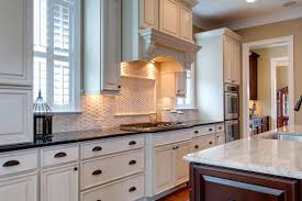 Thermofoil Cabinet Doors Vs Wood by Tiles Backsplash Tumbled Marble Replacement White Thermofoil