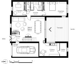 plan maison à étage en u ooreka